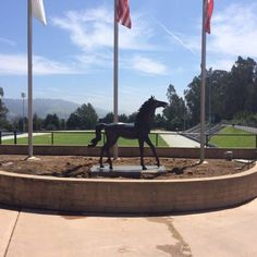 MVCS Bronze Horse Donation at Football Stadium Entrance