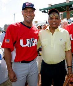 Derek Jeter & Willie Mays World Baseball Classic, Sports Gallery, Willie Mays, Giants Baseball, Wbc, Derek Jeter, Sports Stars, New York Yankees, America's Pastime