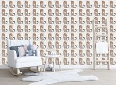 Cheetah Wildlife Nursery Animal Wallpaper Art | Kids Wallpaper Animals Peel and Stick | Nursery Wall Decor | Pattern Wallpaper