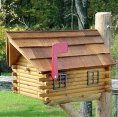 log cabin nature elements quilt | Cedar Log Cabin Mailbox - Amish-crafted Mailboxes = Decorative ...
