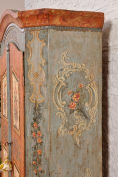 Arredamento D'antiquariato Intelligent Cimasa Antica In Legno Noce 1800