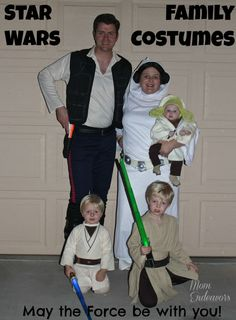 Star Wars Family Costumes. Cheap and easy costume for Jack.