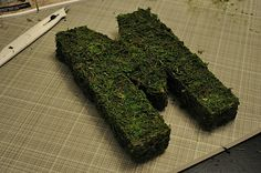 How to make moss covered letter for my St Patrick's Day mantel.