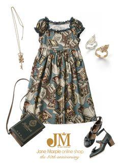 Jane Marple book print - i love the cut of this dress
