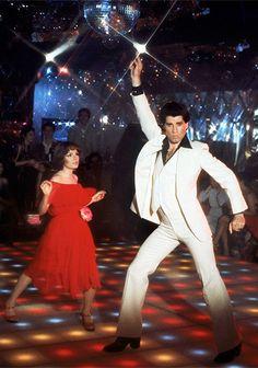 Stephanie (Karen Lynn Gorney) and Tony (John Travolta), Saturday Night Fever, 1977