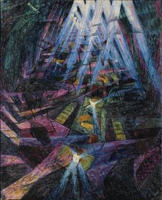 """simultaneousvisions: """" Umberto Boccioni, Forces of the Street Oil on canvas 1911 """""""