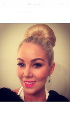 Hair up style high bun- Bathurst  business awards