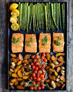 Portioned a large salmon filet (freezing the belly and tail for a future use), then cooked it on a cast iron griddle in the @webergrillsca SmokeFire grill. Potatoes were roasted on the griddle, before making room for the salmon. Fennel and tomatoes were roasted in a skillet and asparagus was grilled on the SmokeFire while the salmon rested. A great summer meal with leftovers ready for mom & dad tomorrow. . I also used the Weber Connect to ensure the salmon was the perfect temperature! 👌 Frozen Salmon, Cast Iron Griddle, Cooking Salmon, Griddles, Fennel, Salmon Recipes, Tasty Dishes, Skillet, Summer Recipes