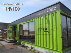 ぷらっとバイクでカフェめぐり:お洒落なコンテナカフェ☆Sandwich&Cafeインヴィゴ☆