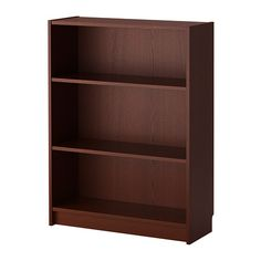 BILLY Bookcase - medium brown - IKEA $59.99 (with doors on top of the malm)