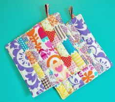 my girl thursday: diy: scrap busting pot holders