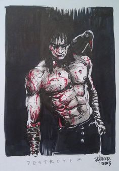 The Crow Eric Draven Comic Art