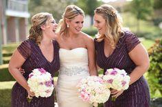 Kelly + Terrence Outdoor Wedding | Plum Bridesmaids | @ftpdallas | @5starweddings