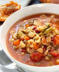 Pasta Fagioli Soup # 21 day fix * I'd use brown rice pasta shells*