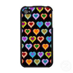 groovy heart pattern