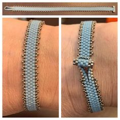 Loom Bracelet Patterns, Beaded Bracelets Tutorial, Bead Loom Bracelets, Beaded Wrap Bracelets, Bracelets For Men, Bracelet Clasps, Beaded Jewelry Designs, Seed Bead Jewelry, Bracelets