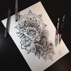 flowers tattoo, mandala, mandala tattoo, tatuaggio mandala, fiori, flower, tatua.... >> Figure out even more by checking out the picture link
