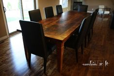 Our Reclaimed Wood Table with Parsons Chairs