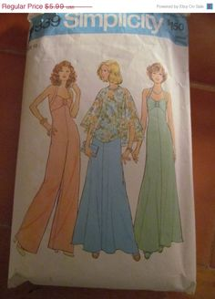 SALE 1975 Simplicity Sewing Pattern 6939 Size 12 by EarthToMarrs, $4.79