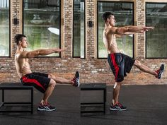 Seated Single Leg Jump Squat