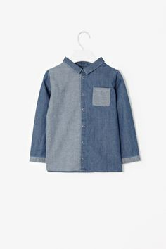 Reversed chambray shirt