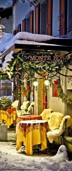 25 Adorable and Breathtaking Places Around the World - Monte Rosa, Zermatt, Switzerland Zermatt, Places Around The World, Oh The Places You'll Go, Around The Worlds, Noel Christmas, Winter Christmas, Christmas Scenery, Christmas Travel, Winter Holidays