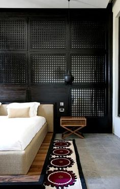 // Studio KO - Black lattice wall