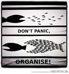 how to start the business, process to start a small business, to start your own business - Don't panic - organise. How true is this. Small acts of leadership acting in concert = success! #business #entrepreneur