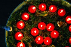 Countdown to the Solstice! Starting at the beginning of the month, light one additional candle every evening.