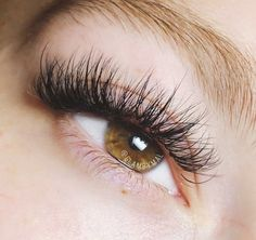 a9bce199576 Light, wispy hybrid lashes. A mix of classic and volume extensions for a  more