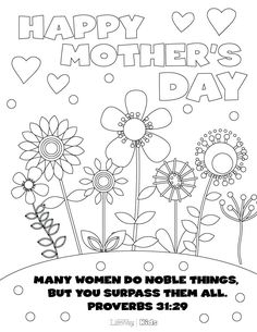 print out this mothers day coloring page for your sponsored child then they can color - Pictures That You Can Color