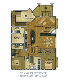Airplane Hanger With Living Space Floor Plan Florida