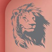 Lion Head Wall Decal--Very kind and Aslan-y!