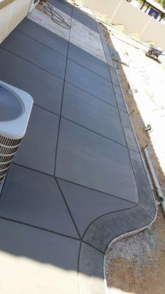 Ideas Concrete Patio Slabs Yards For 2019 Concrete Slab Patio, Concrete Patio Designs, Patio Slabs, Concrete Driveways, Stamped Concrete, Concrete Patio Extension Ideas, Diy Patio, Backyard Patio, Patio Ideas