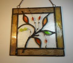 simple pattern in stained glass frame