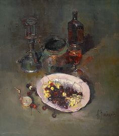 Alexi Zaitsev - The plate of sweet cherries 1997
