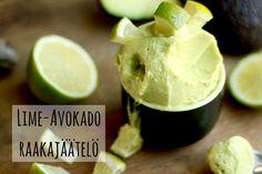Karkkipäivä: Lime-avokado-raakajäätelö (viljaton, luonnollisesti makeutettu, maidoton, munaton, pähkinätön)