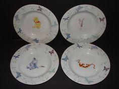 Winnie the Pooh Tigger eeyore Piglet Disney Dinnerware Bowl set of 4 Bowls & Winnie The Pooh Tigger Eeyore Piglet Disney Direct Dinnerware Plates ...