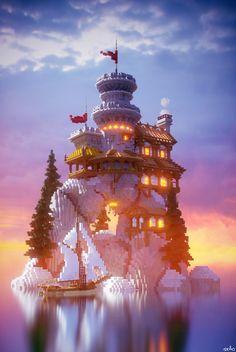 Builder's Refuge ( - Minecraft World Minecraft Mansion, Minecraft Castle, Minecraft Medieval, Cute Minecraft Houses, Minecraft Room, Minecraft Plans, Minecraft House Designs, Amazing Minecraft, Minecraft Blueprints