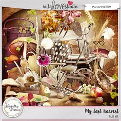My Last Harvest - digital scrapbooking kit from HappyNess Creation. This gorgeous kit filled with all the autumn inspired elements will add that special touch to your layouts.