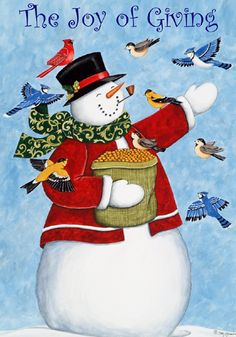 The Joy of Giving #snowman