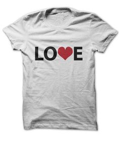 """All we need is Love"" - you can wear this shirt for any reason and all year long. It's sure to be a favorite."