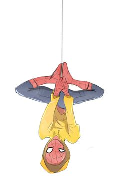Spidey chillin. He's freaking wearing my favorite color. Peter I love u