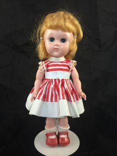 1950's Bent Knee Walker Vogue Ginny Doll - All Original Tagged