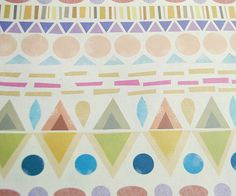 We haven't done potato prints.  Pattern play. Beautiful pastels.