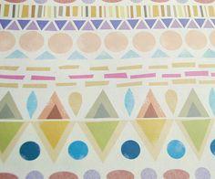We haven't done potato prints.  Pattern play. Beautiful pastels.