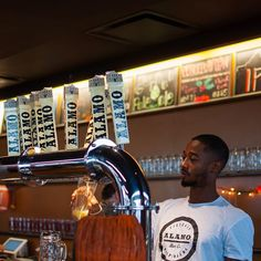 We always have several styles of Alamo Beer on tap at our beer hall.  Come by and try some.  We're open Thursday - Sunday.
