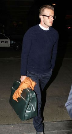 I don't who picked that bag for D., but he/she sure knew how to pick the right bag for a fashion icon. :)
