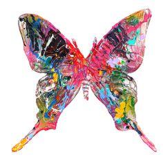 """Fly Butterfly"" painting / wall sculpture, work of art, Gemälde / Wandskulptur, Kunstwerk"