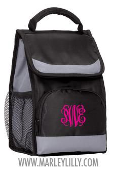 Monogrammed Flap Lunch Cooler